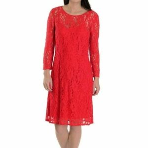 Madewell Broadway & Broome Loren Red Lace Dress
